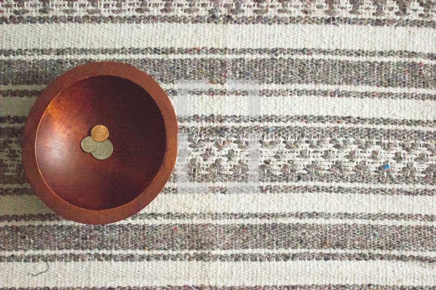 coins in a bowl