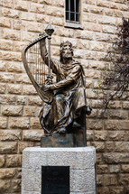 King David of Israel statue