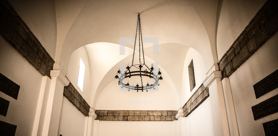candles in a chandelier
