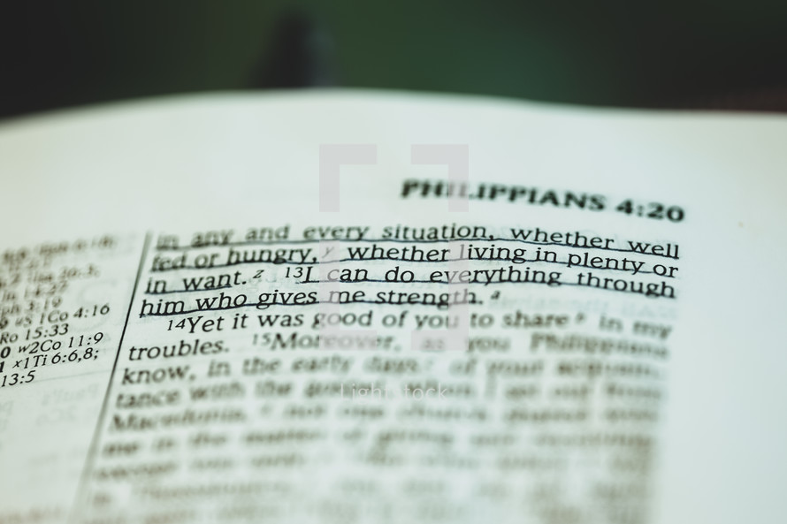 """""""I can do everything through him who gives me strength""""  Philippians 4:13"""