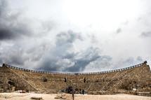 ancient coliseum in ruins