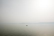 boat floating at sea