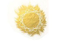 abstract crown of thorns on gold