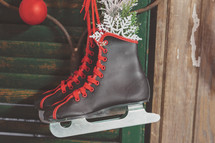Christmas decoration ice skates for winter sports