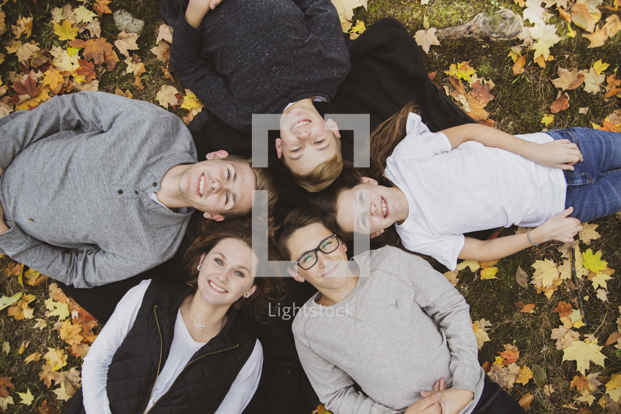 family portrait in fall