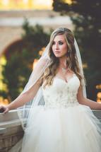 a portrait of a bride