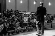 a minister preaching a sermon
