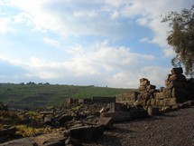 Ancient ruins at Chorazin in Galilee