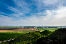 green hills in the holy land