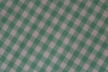 green and white gingham background