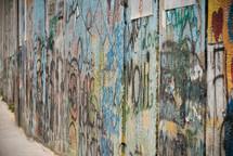 graffiti on a wood