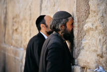 kissing the wailing wall