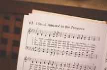I stand amazed in his presence