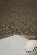 home plate and ball