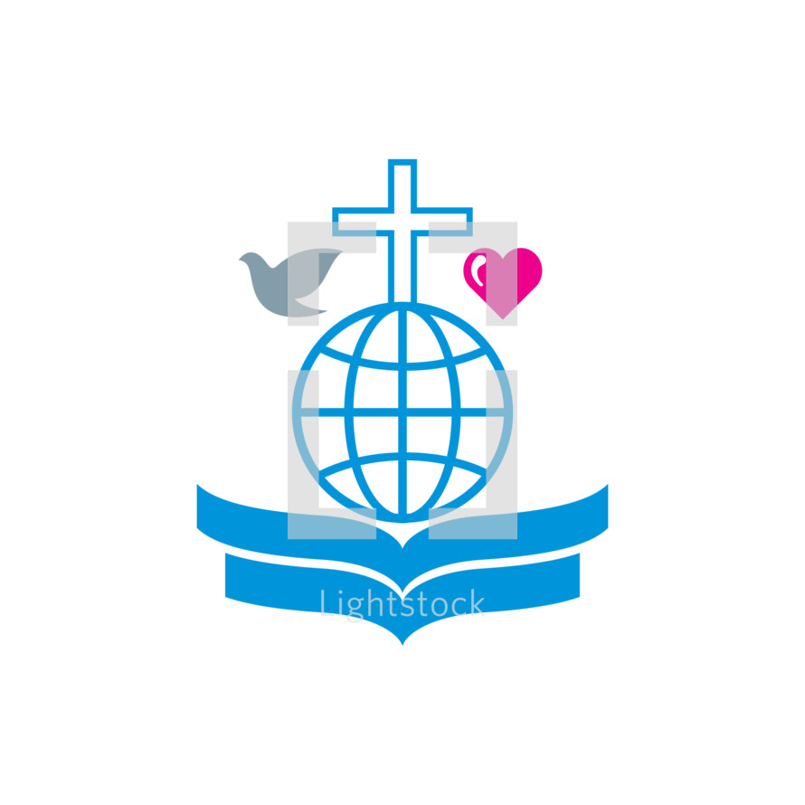 Dove Cross Globe Bible Heart Missions Vector By Andrey