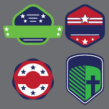 sporty badges