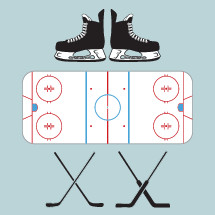 hockey, ice skates, hockey skates, hockey rink, hockey sticks