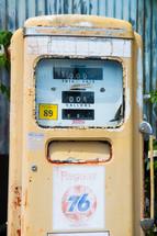 a vintage gas station tank