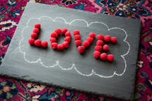 word love out of raspberries