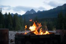 evening fire pit