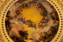 Rotunda Fresco on the ceiling of the Capitol Building