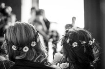 Flowers girls at wedding