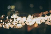 bokeh hanging lights