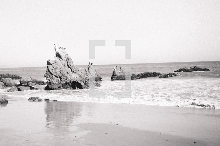 rock formations in the ocean