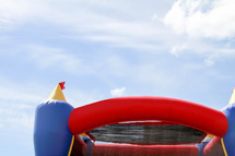 top of a bounce house against the sky