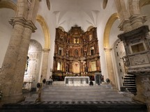 altar in a Catholic cathedral