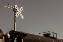 train at a railroad crossing