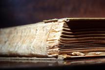 old book spine
