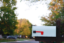 a mailbox in front of a house