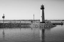 lighthouse along a shore