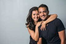 portrait of a young Latino couple