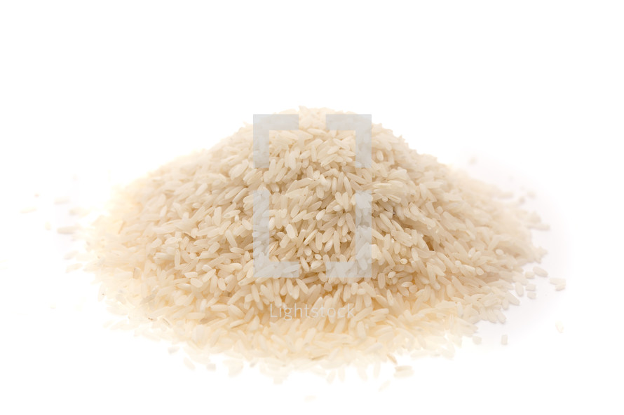 pile of dry rice