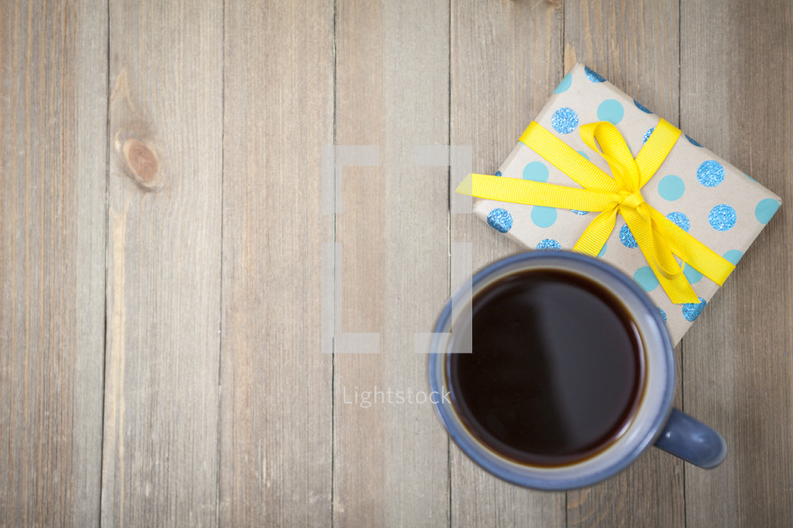 Coffee and Gift Background