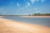 sandy beach along a shore