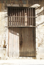 padlock on doors