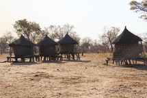 huts in a village