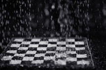 raining on a chess board