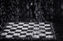 raining on a chess board