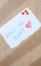 Call Me Baby note