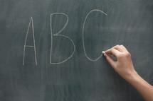 A,B,C's on a chalkboard