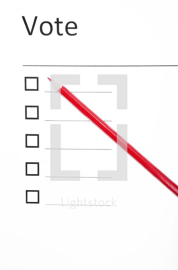 empty ballot