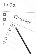 To do list and checklist