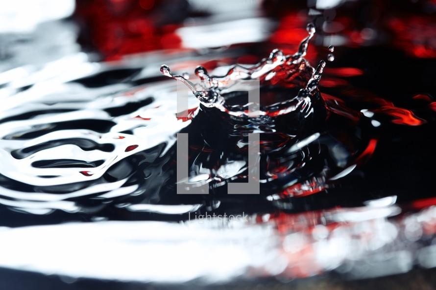 splashing water droplet