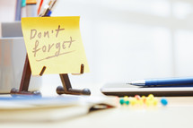 Don't forget sticky note