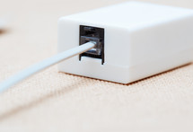 Network cable in the splitter