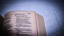 corner of a Bible